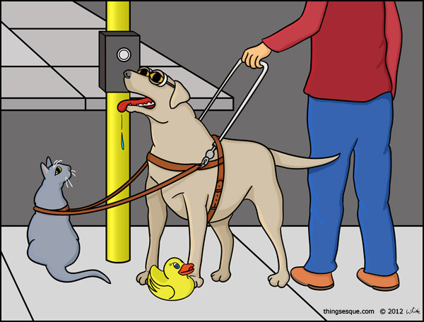 Guide Dog Guide (A Visual Gag)