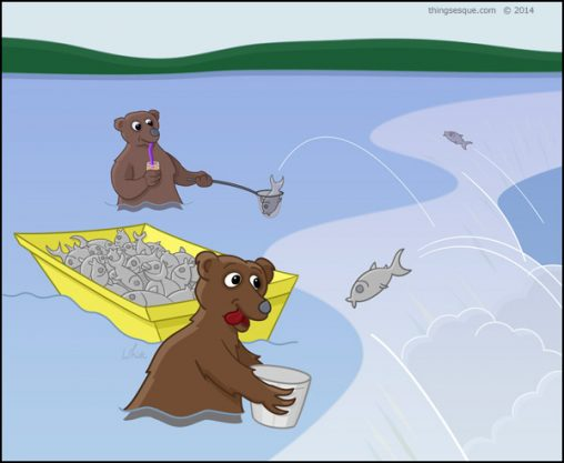 Fishing Bears - Jumping Salmon