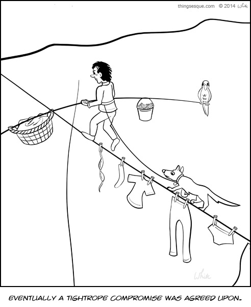 Tightrope Walking Washing