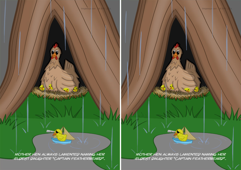 Poultry Piracy Difference Spot