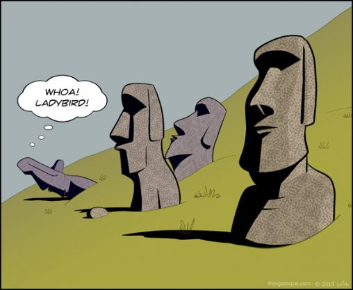 Easter Island Heads - Ladybird Study