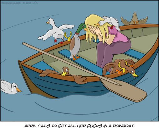 Ducks in a Rowboat