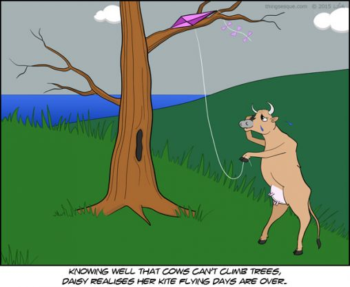 Kite-flying Cow