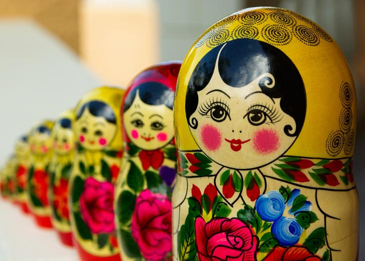 Russian Matryoshka / Babushka / Nested-dolls