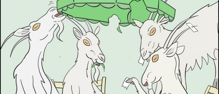 Goats Playing Poker